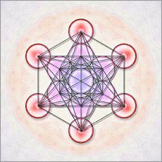 Wall Sticker  Metatron's Cube - I Artwork - Dirk Czarnota