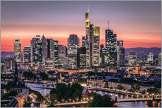 Gallery print  Skyline Frankfurt am Main Sundown - Frankfurt am Main Sehenswert