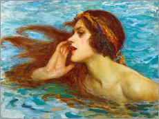 Wall sticker  A little sea maiden - William Henry Margetson
