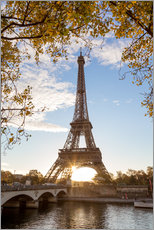 Gallery print  Jena bridge and Eiffel tower in autumn, Paris, France - Matteo Colombo