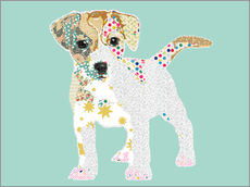 Gallery print  Jack Russel Collage - GreenNest