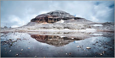 Wall sticker  Panoramic of Lagazuoi mountain peak in the Sella group reflected in lake, Dolomites, Italy - Matteo Colombo