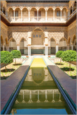 Gallery print  Court of the virgins in the royal Alcazar - Matteo Colombo