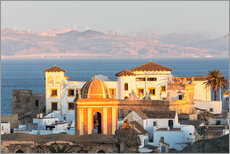 Gallery print  Strait of Gibraltar and town of Tarifa at sunset, Andalusia, Spain - Matteo Colombo