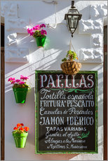 Wall sticker  Typical whitewashed ornate wall and paella sign, Andalusia Spain - Matteo Colombo