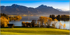 Wall sticker  Lake in Bavaria with Alps - Michael Helmer