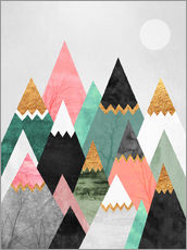 Wall Stickers  Pretty Mountains - Elisabeth Fredriksson