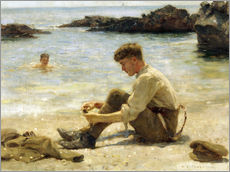 Wall sticker  Lawrence as a cadet at Newporth beach - Henry Scott Tuke
