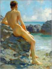 Gallery print  The bather - Henry Scott Tuke