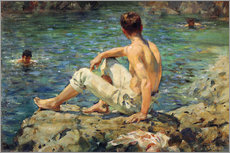 Wall sticker  Green and Gold - Henry Scott Tuke