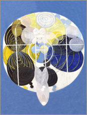 Aluminium print  The Large Figure Paintings, No. 5 - Hilma af Klint