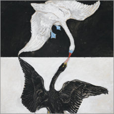 Wood print  The Swan, No. 1 - Hilma af Klint