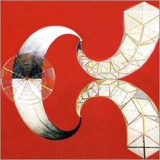 Wall sticker  The Swan, No. 9 - Hilma af Klint