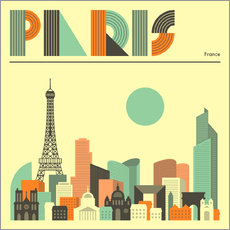 Wall Stickers Paris Skyline