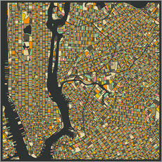 Gallery print  New York Map - Jazzberry Blue