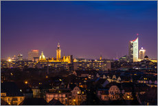 Wall Stickers  Leipzig Skyline at night - Martin Wasilewski