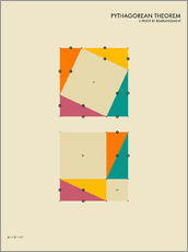 Gallery print  Pythagorean theorem - Jazzberry Blue