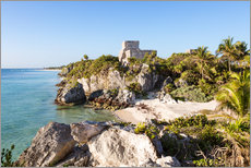 Wall Stickers  Famous maya ruins of Tulum on the caribbean sea, Mexico - Matteo Colombo