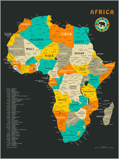 Wall sticker  Africa Map - Jazzberry Blue