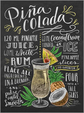Wall sticker  Pina Colada recipe - Lily & Val