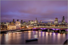 Wall sticker  London Skyline Night - Sören Bartosch