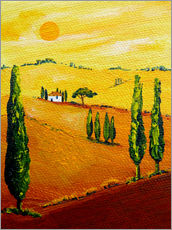 Wall Stickers  Tuscany landscape 3 - Christine Huwer