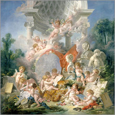 Wall sticker  Geniuses of the arts - François Boucher