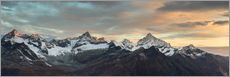 Wall sticker  Panorama from Gornergrat at sunrise  Obergabelhorn, Zinalrothorn, Weisshorn and Bietschorn mountain - Peter Wey