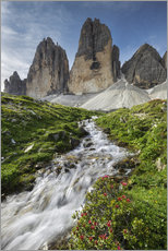Wall Stickers  Alps - Dolomites - Tre Cime - Tobias Richter