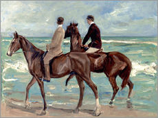Gallery print  Two riders on the beach - Max Liebermann