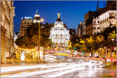 Wall Stickers  Madrid city at night, Spain - Matteo Colombo