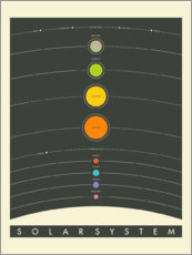 Canvas print  The Solar System - Jazzberry Blue