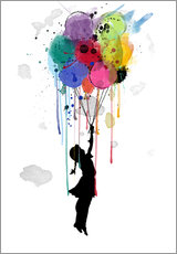 Wall sticker  Drips balloon - Mark Ashkenazi