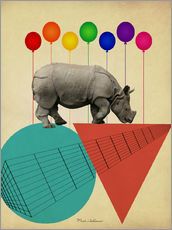 Wall sticker  rhino - Mark Ashkenazi