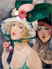 Wall Stickers  Two Cocottes with hats  - Gerda Wegener