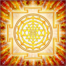 Wall sticker Sri Yantra - artwork light
