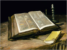Gallery Print  Still Life with Bible - Vincent van Gogh