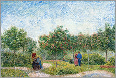 Gallery Print  Courting Couples in the Voyer d'Argenson Park in Asnieres - Vincent van Gogh