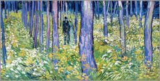 Foam board print  Undergrowth with two figures - Vincent van Gogh