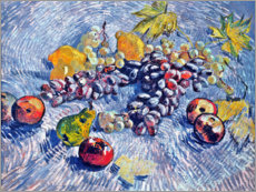 Wood print  Grapes, Lemons, Pears and Apples - Vincent van Gogh