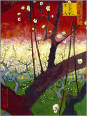 Aluminium print  Plum tree in bloom (after Hiroshige) - Vincent van Gogh