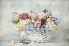 Gallery print  a basket full of spring - Lizzy Pe