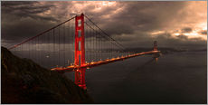 Wall sticker  Golden Gate mystical brown - Michael Rucker