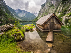 Gallery Print  Lonely Hut at Obersee / Königssee - Andreas Wonisch