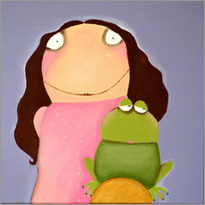 Wall sticker The princess of frogs