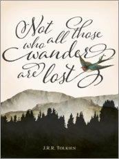 Wall sticker  Not all those who wander are lost, Tolkien - Amelia Gier