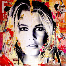 Wall sticker Claudia Schiffer