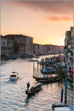 Wall sticker Sunset over the Grand Canal in Venice, Italy