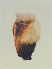 Gallery print  Approaching bear - Andreas Lie