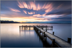 Gallery print  Sunset at Chiemsee - Sebastian Jakob